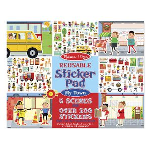 Melissa & Doug Reusable Stickers Town