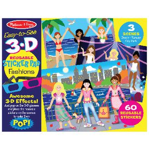 Melissa & Doug Easy-to-See 3D Reusable Sticker Pad Fashions