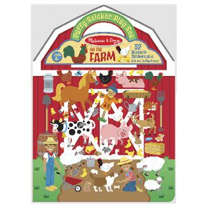 Melissa & Doug Reusable Puffy Sticker Set On The Farm