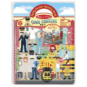 Melissa & Doug Puffy Sticker Activity Book Cool Careers