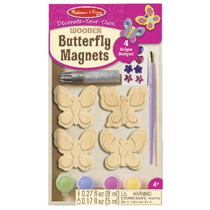 Melissa & Doug Wooden Butterfly Magnets Craft Kit