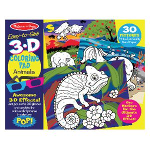 Melissa & Doug 3D Colouring Book Animals