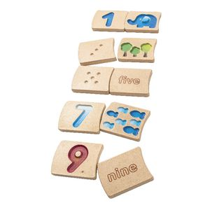 PlanToys Number 1-10 Tile Set