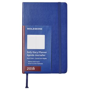 Moleskine 2016 Hard Cover Large Daily Diary Royal Blue
