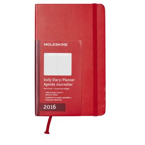 Moleskine 2016 Hard Cover Large Daily Diary Scarlet Red