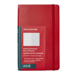 Moleskine 2016 Hard Cover Large Weekly Notebook Scarlet Red