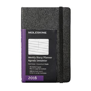 Moleskine 2016 Hard Cover Pocket Weekly Horizontal Diary