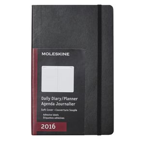Moleskine 2016 Soft Cover Large Daily Diary Black