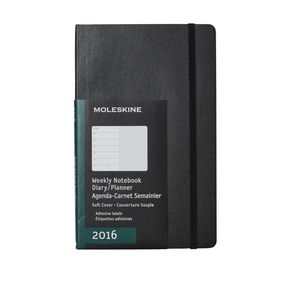 Moleskine 2016 Soft Cover Large Weekly Notebook Black