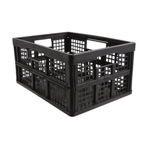 Really Useful 32L Folding Crate Black
