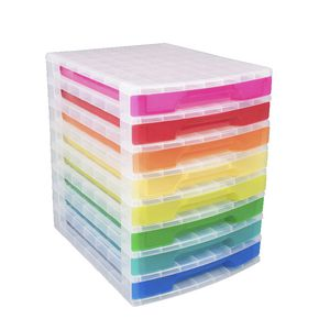 Really Useful Box 8 Drawer Desk Organiser Assorted Colours