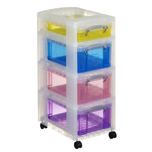 Really Useful Box 4 Drawer Trolley Assorted Colours