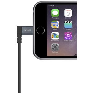 Moshi 90 Degree Lightning to USB Cable Black