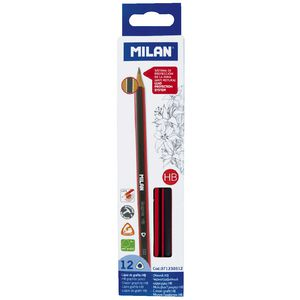 Milan Triangular Graphite HB Pencils 12 Pack