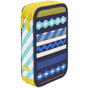 Milan Double Pencil Case Anchor Club Blue