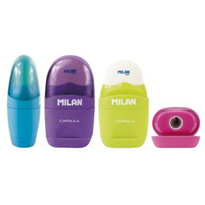 Milan Capsule 1 Hole Sharpener and Eraser