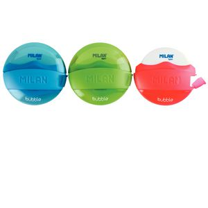 Milan Bubble 1 Hole Sharpener and Eraser