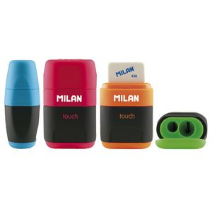 Milan Compact Touch Sharpener and Eraser