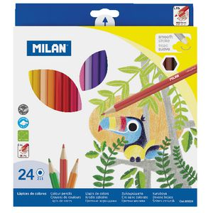 Milan Coloured Pencils 24 Pack