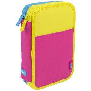 Milan Double Decker Pencil Case Set Pink