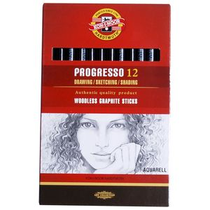 KIN Progresso 4B Aquarell Graphite Sticks 12 Pack