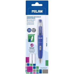 Milan Compact Mechanical Pencil and Erasers 0.7mm