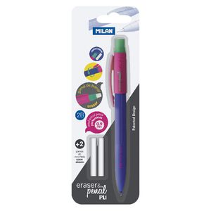 Milan PL1 Mechanical Pencil and Erasers 0.9mm Assorted