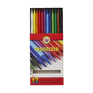 Koh-I-Noor Progresso Colour Pencils 12 Pack