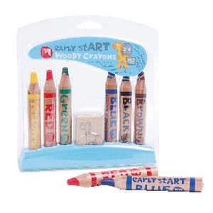 Micador early stART Woody Crayons 6 Pack