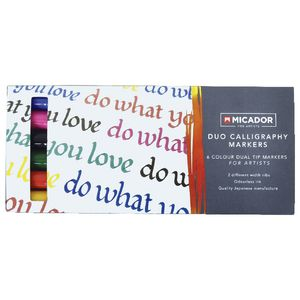 Micador for Artist Duo Calligraphy Markers Assorted 6 Pack