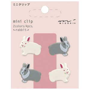 Midori Magnet Clips Rabbit 6 Pack