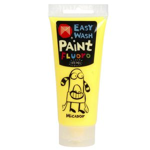 Micador Easy Wash Paint 120mL Fluoro Yellow