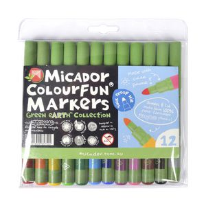 Micador ColourFun Broad Point Markers 12 Pack