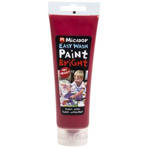 Micador Easy Wash Paint 120mL Red