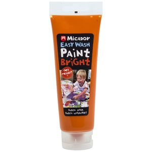 Micador Easy Wash Paint 120mL Orange