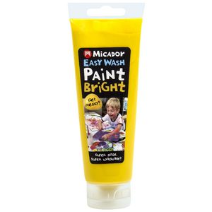 Micador Easy Wash Paint 120mL Yellow