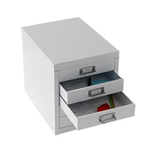 ... Spencer 5 Drawer Desktop Cabinet White