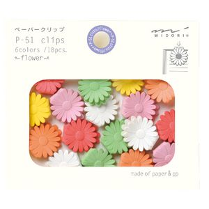 Midori P-51 Clips Flower 18 Pack