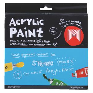 Micador Acrylic Paints 18 Pack
