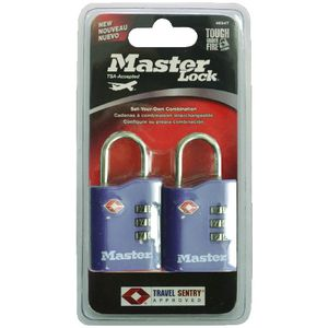 Master Lock 30mm TSA Luggage Padlock 2 Pack