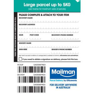 Mailman Parcel Delivery Label Large Up To 5kg