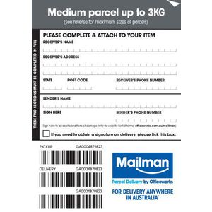 Mailman Parcel Delivery Label Medium Up To 3kg