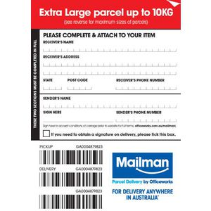 Mailman Parcel Delivery Label Extra Large Up To 10kg