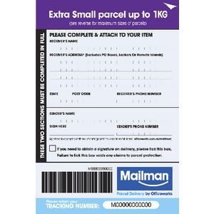 Mailman Parcel Delivery Label Extra Small Up To 1kg