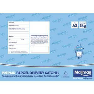 Mailman Parcel Delivery Satchel Medium Up To 3kg