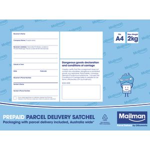 Mailman Parcel Delivery Satchel Small Up To 2kg