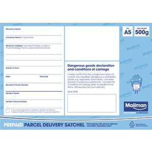 Mailman Parcel Delivery Satchel Extra Extra Small Up To 500g