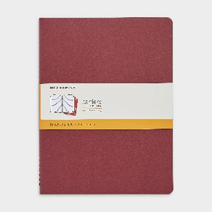 Moleskine Cahier Extra Large Notebook Ruled 3 Pack Red