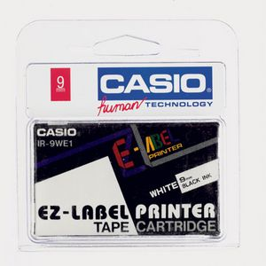 Casio EZ Tape 9mm x 8m Black on White