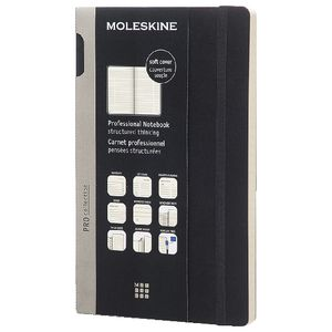 Moleskine Professional Soft Cover Notebook Ruled Large Black at Officeworks in Campbellfield, VIC | Tuggl